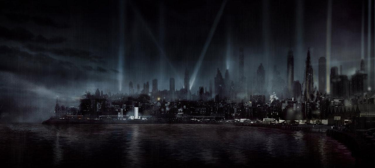 film noir city by silberius