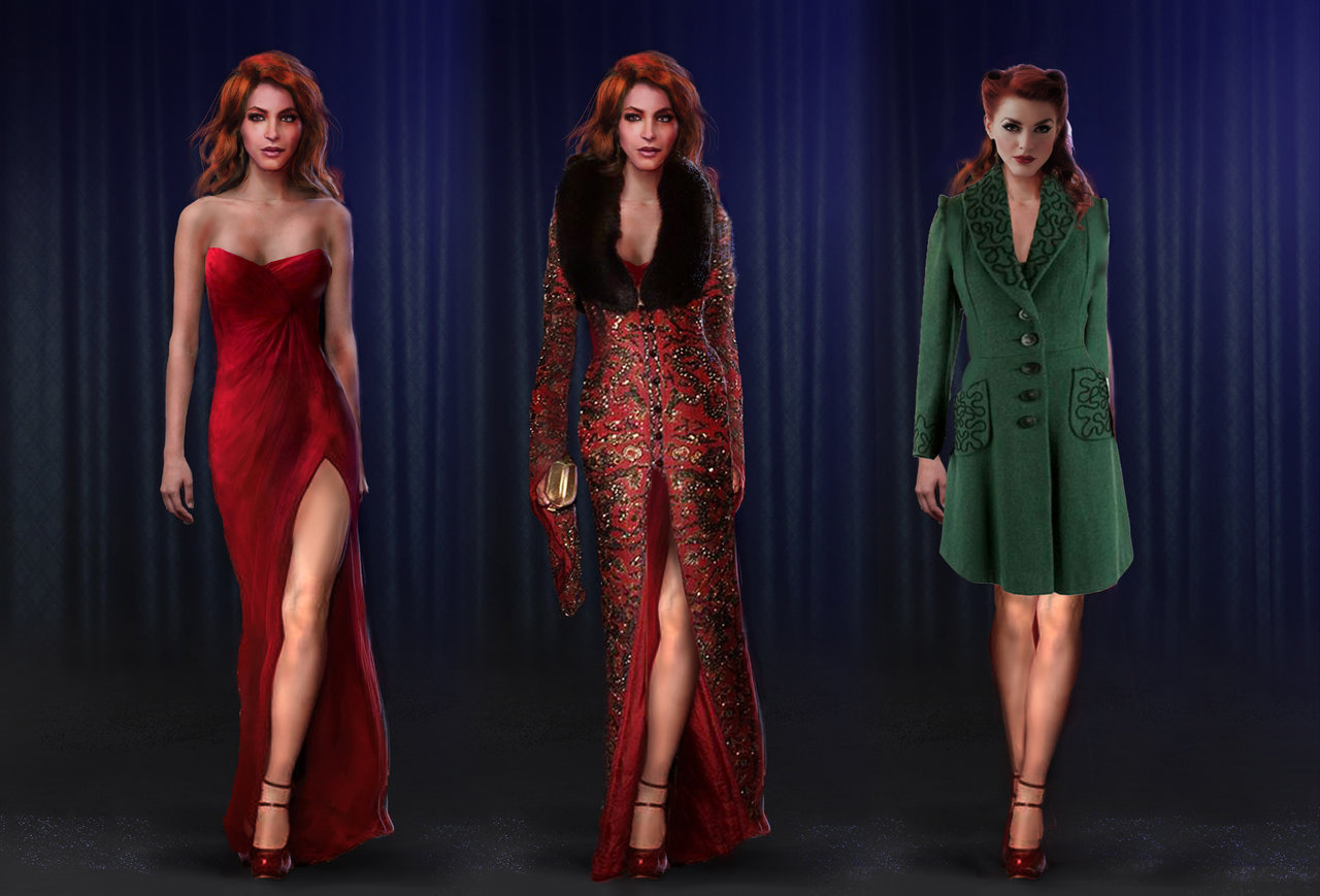 femme fatale - character design by silberius