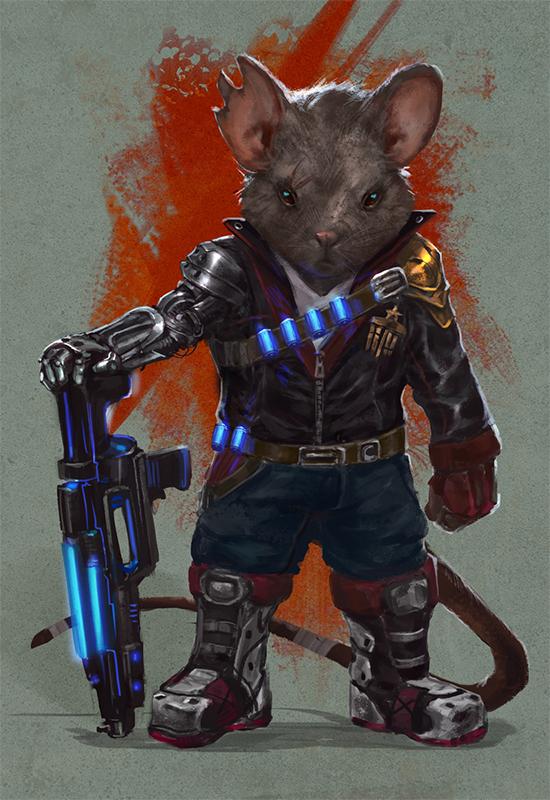 sci-fi mouse veteran by taylorpayton