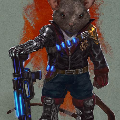 Sci Fi Mouse Veteran by taylorpayton