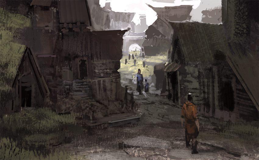 village alley by arnaud