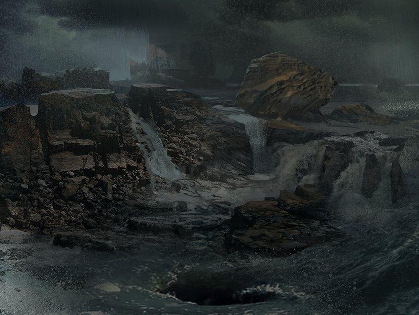 dark waterfall by arnaud