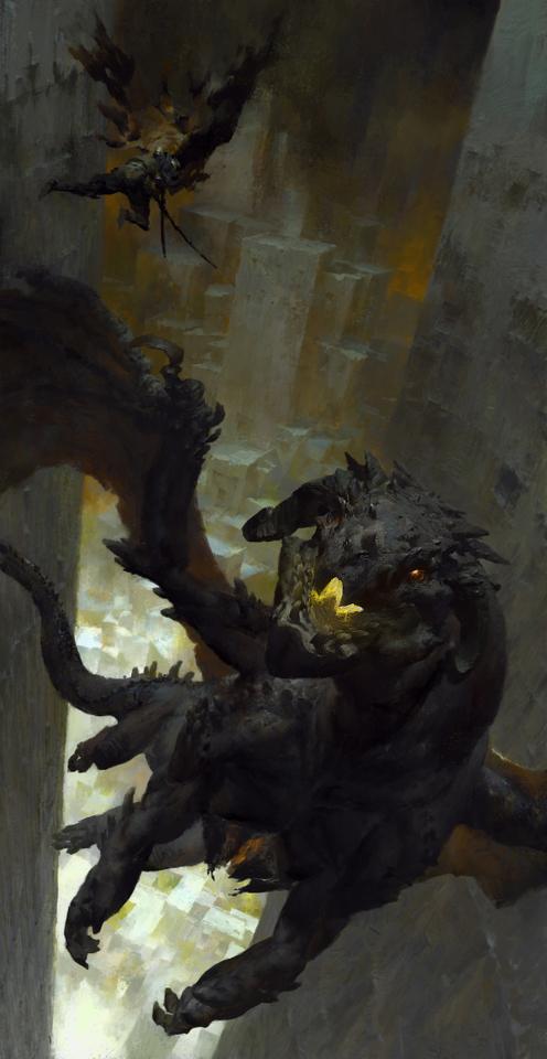 guild wars 2 dragon by ruan_jia