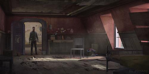Display jumbo abandoned room