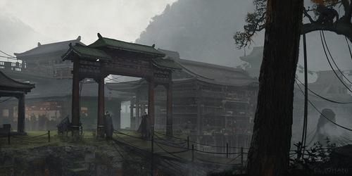 Display jumbo chinese town