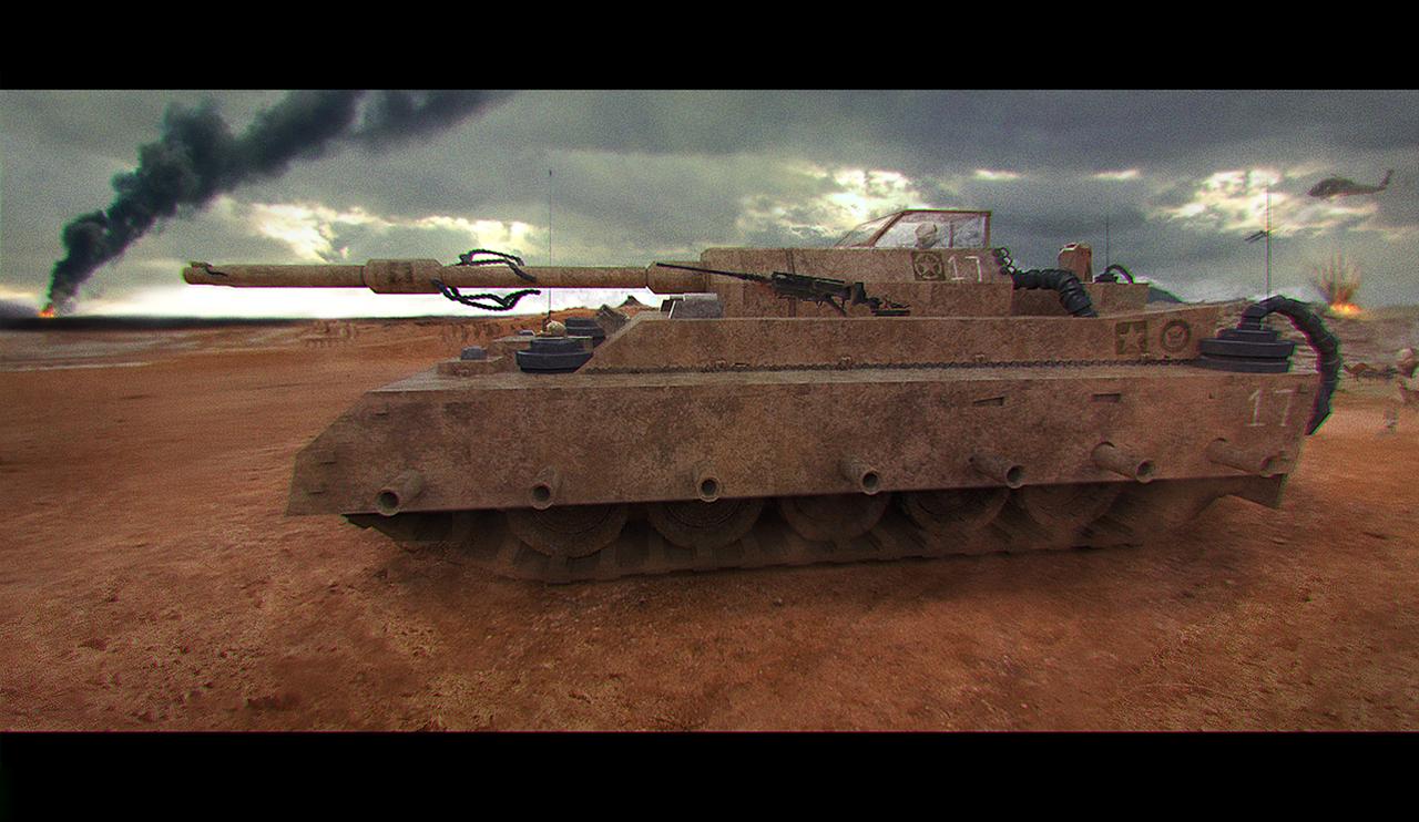 war scene concept by othrandir