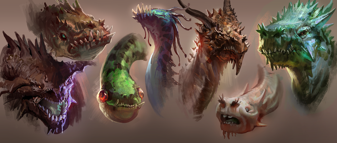 dragon heads by mike.azevedo