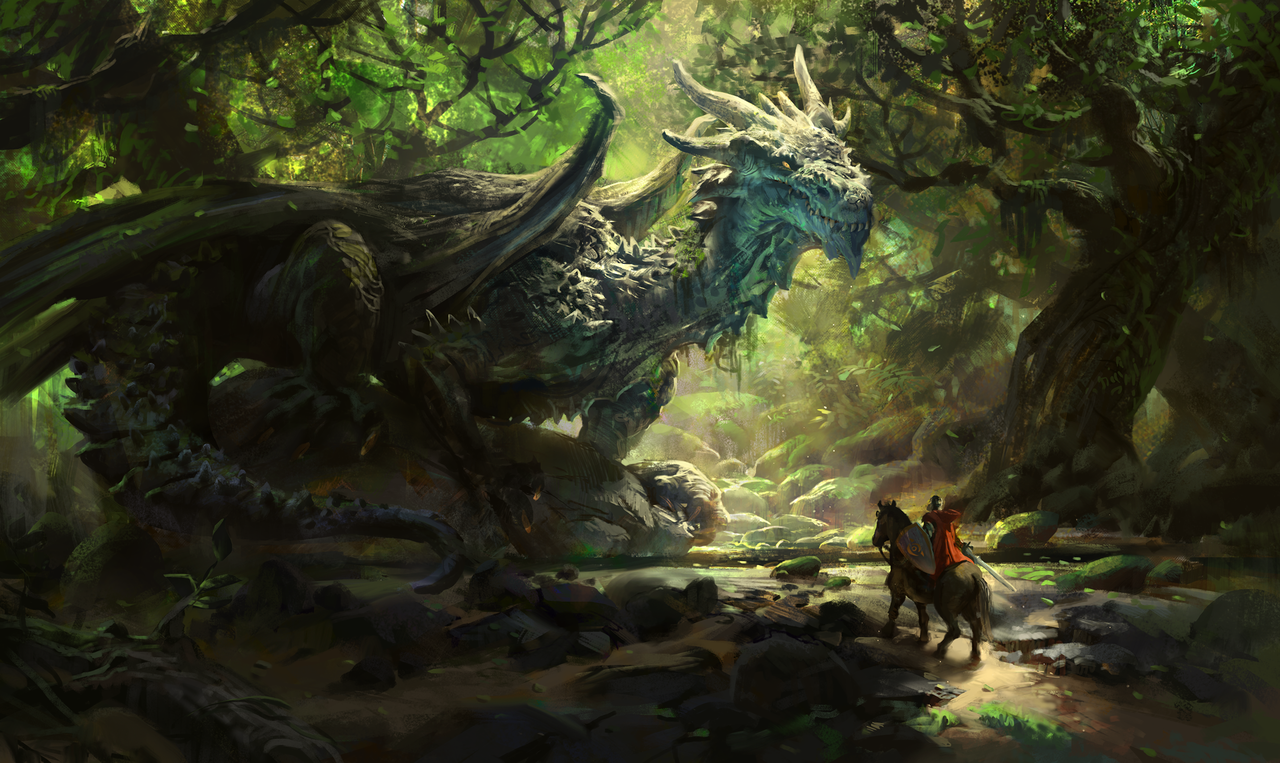 joseph the ancient forest dragon by mike.azevedo