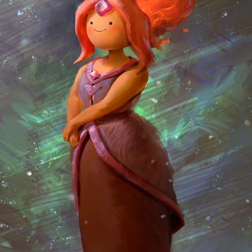 Flame Princess   Adventure Time Fanart by mike.azevedo