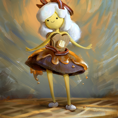 breakfast princess - adventure time fanart by mike.azevedo