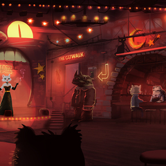 smokey jazz bar by mrg00