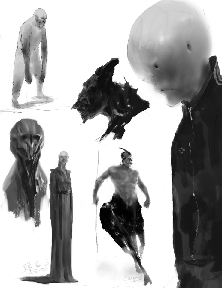 rough concepts page by damianaudino