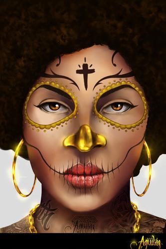 Display jumbo afro