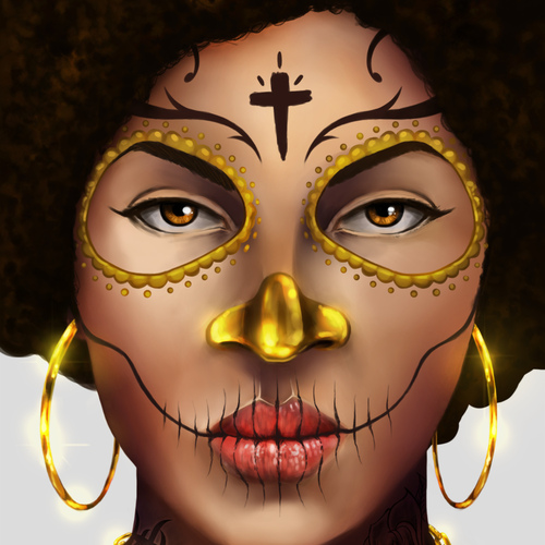 Afro Catrina by chrisflores