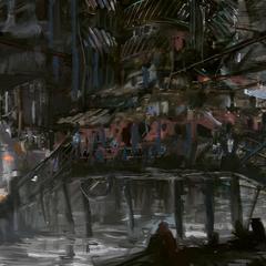 futuristic slums by novaillusion