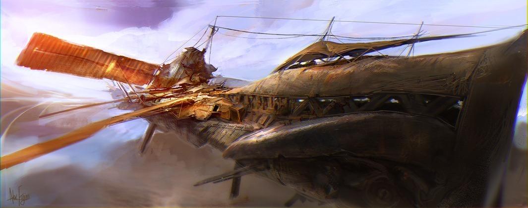speed paint - junk ship by afigini
