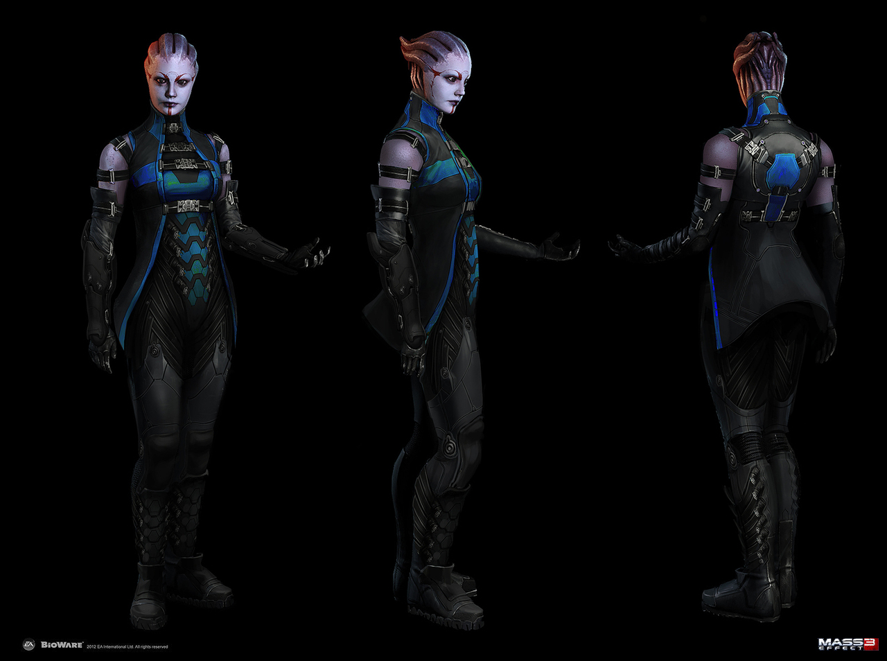 mass effect 3 - dlc liara alt appearance by afigini