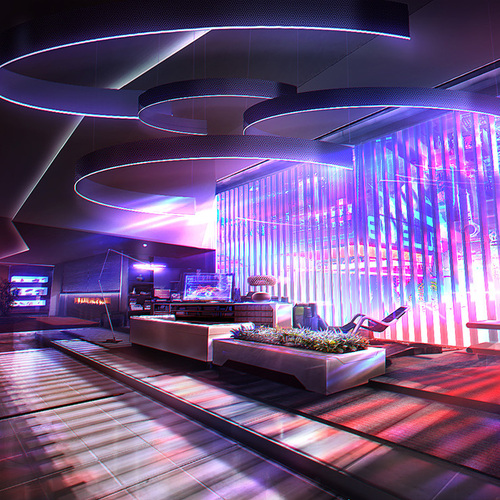 Mass Effect 3   Apartment Concept by afigini