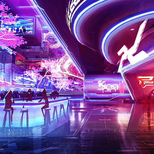 Mass Effect 3   Casino Bar by afigini