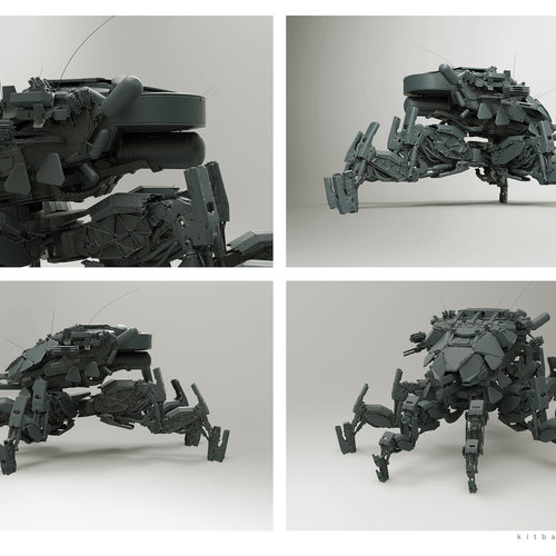 Kitbash Mech by afigini