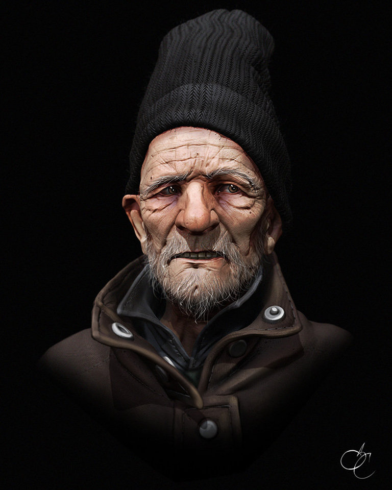Homeless Man by Samuel Compain