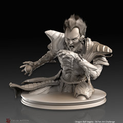 dragon ball vegeta - 3d fan art challenge - sculpt