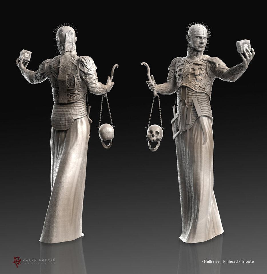hellraiser pinhead - tribute sculpt by calebnefzen