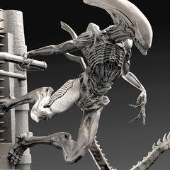 alien - my xeno lurker sculpt by calebnefzen