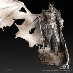 viking batman - preparing for battle