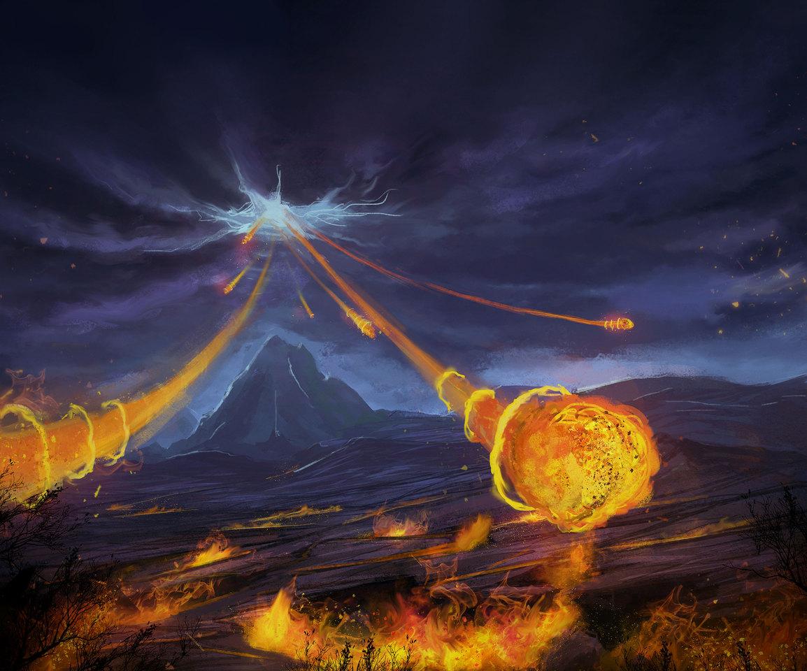 gods fire in the plain by matteoascente