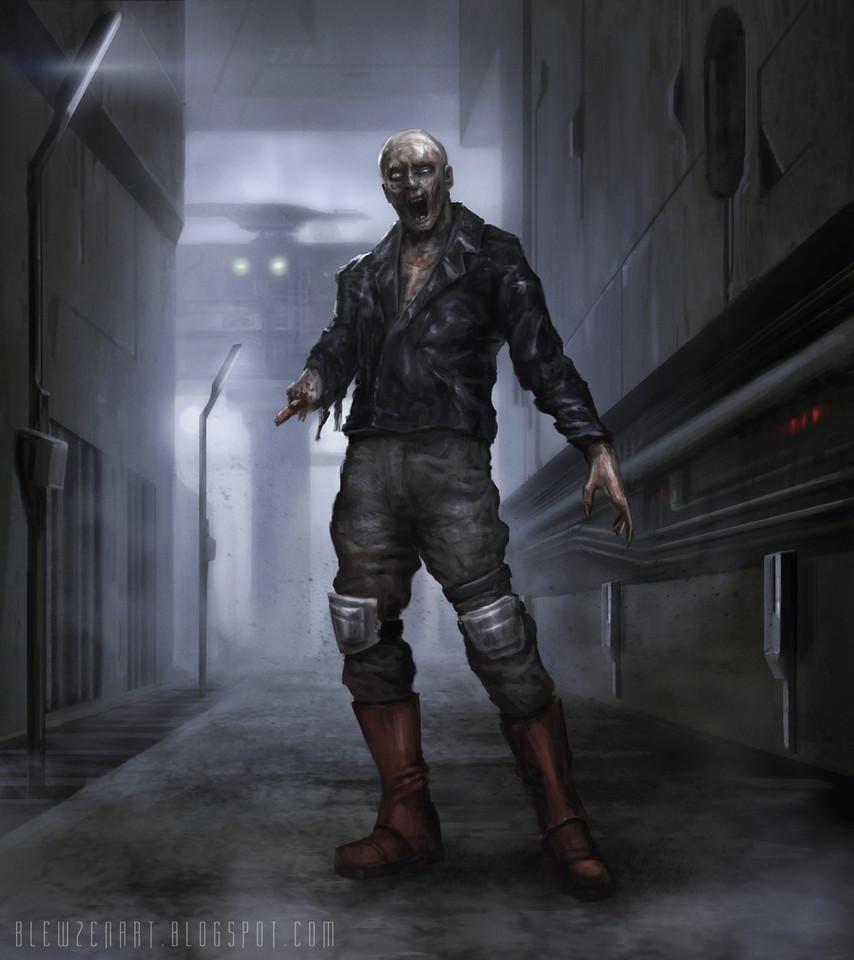 cyberpunk zombie biker by blewzen