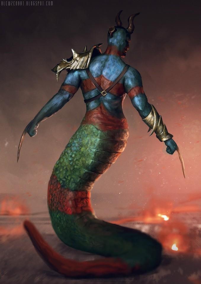 serpent man by blewzen