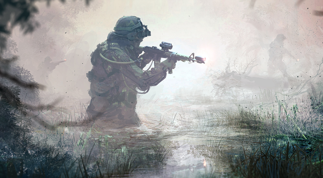 swamp by klauswittmann
