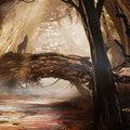red forest by dmitryvishnevsky