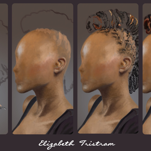 Hair Study 3 Process by elizabethtristram