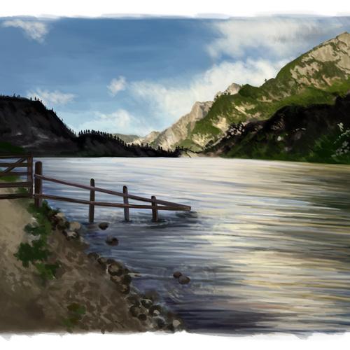 Landscape Study 4 by elizabethtristram