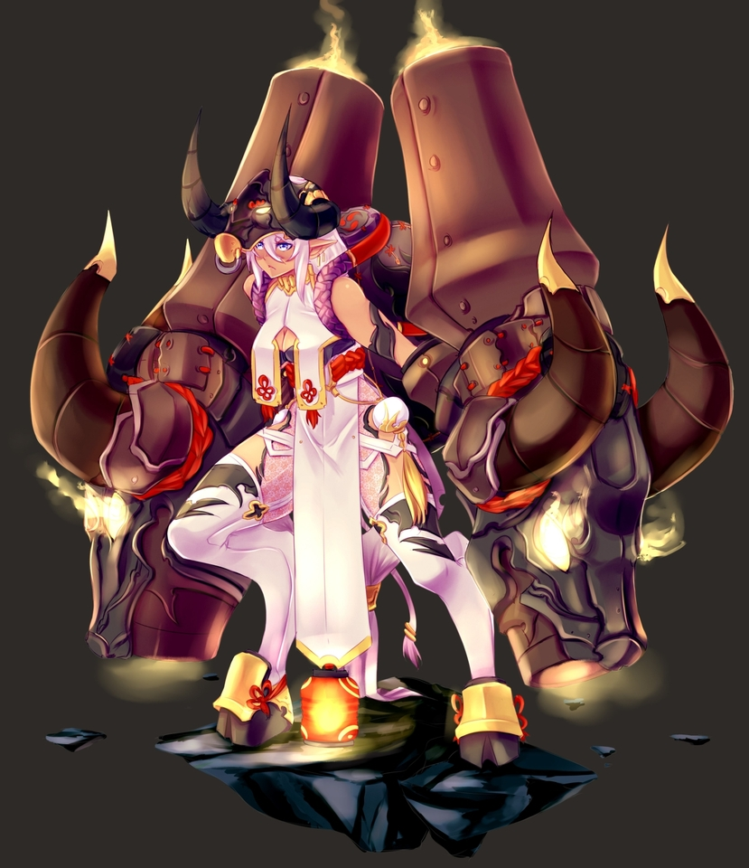 character design 003 - satyress flamethrower by moeroknight