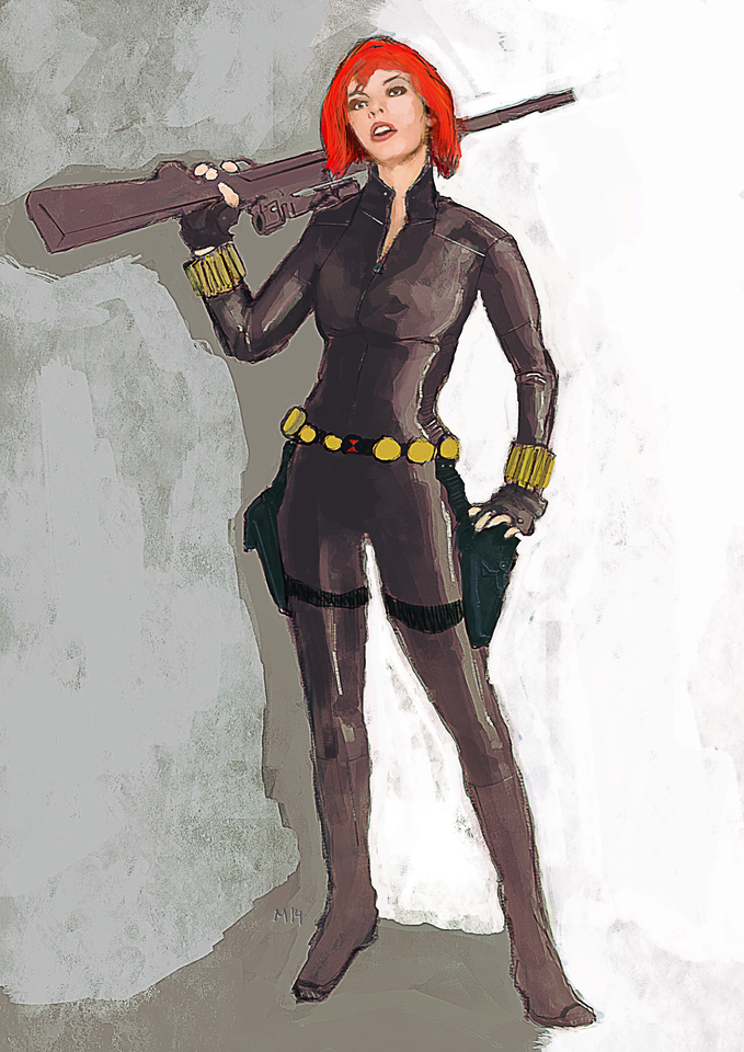 black widow by chemamansilla