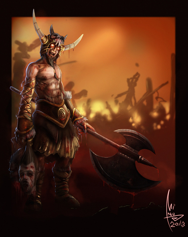 viking berserker by antoniominu