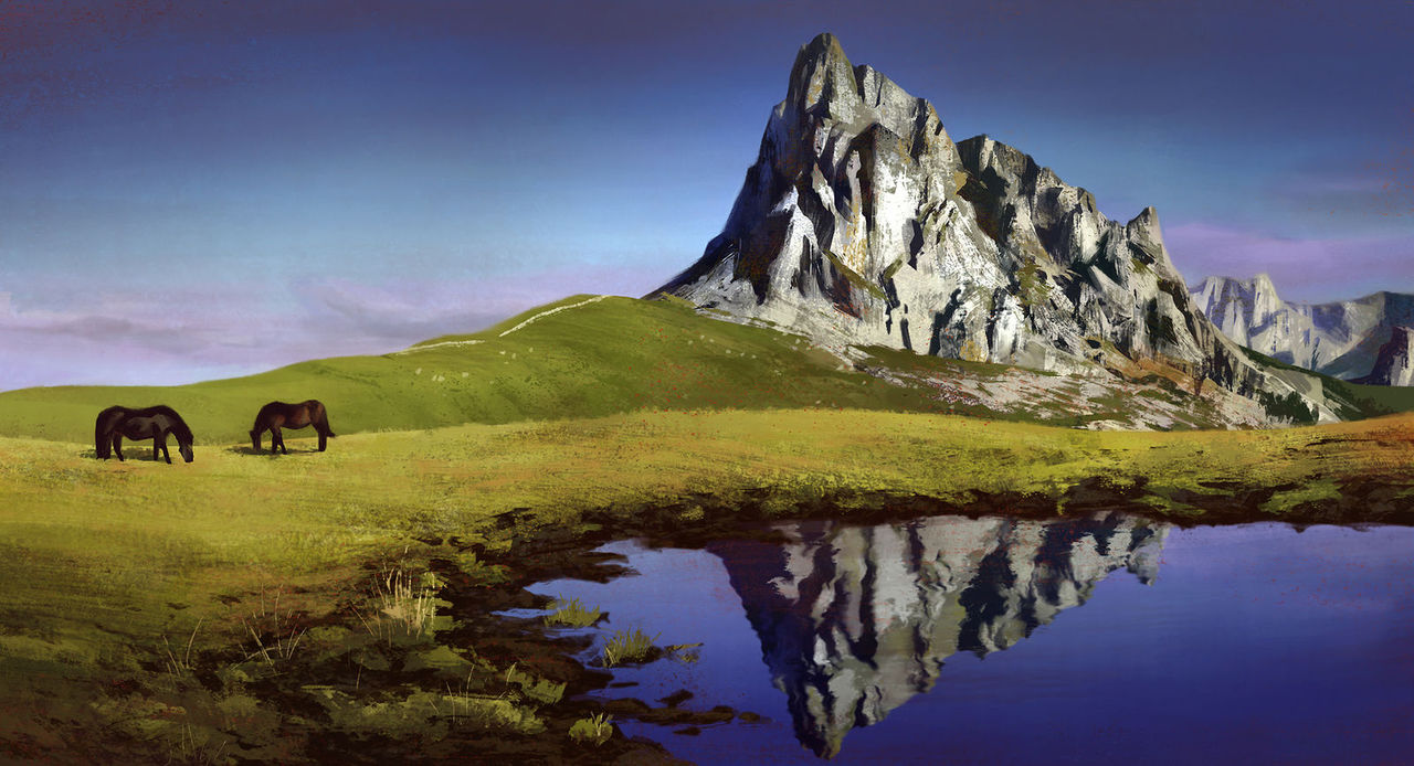mountain study by jaydehei