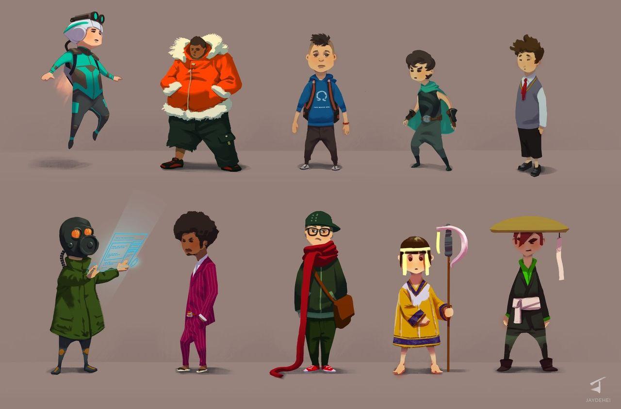 little characters by jaydehei