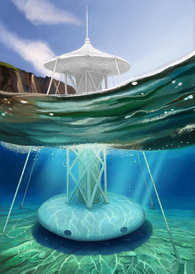 underwater house by olegpaint