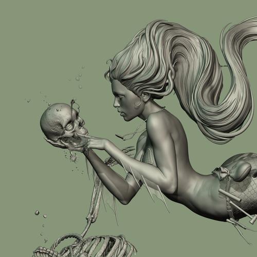 Mermaid Close Up by acornboy