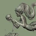 mermaid close-up by acornboy