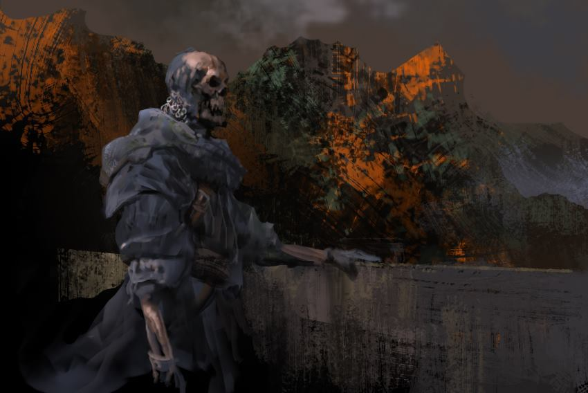 skeleton lord spitpaint by arnaud