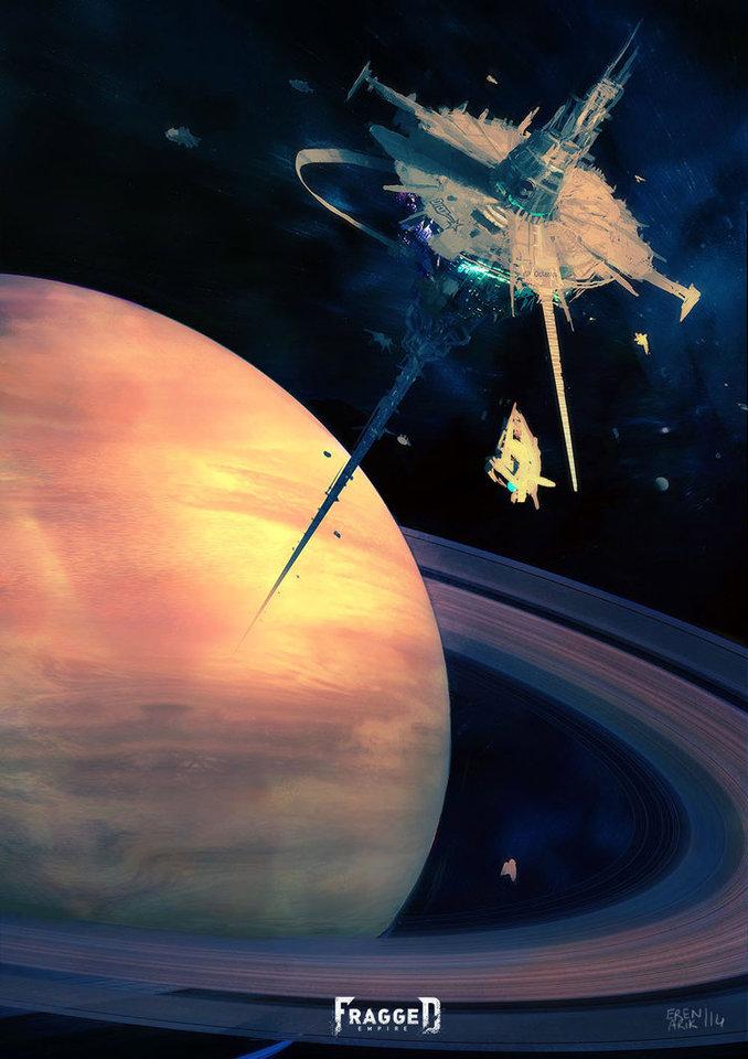 alabaster space station by erenarik