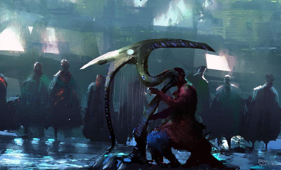 harp player by erenarik