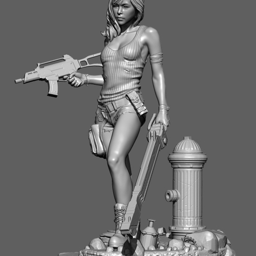 Battel Chick Sculpt by farhadnojumi