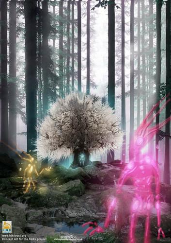 Display jumbo the spirits of cotton tree