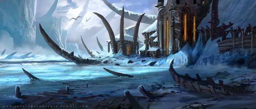 Display jumbo ice viking castle